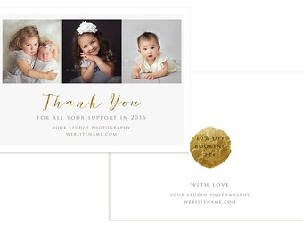 Thank You Photo Card Photoshop Template for Photographers