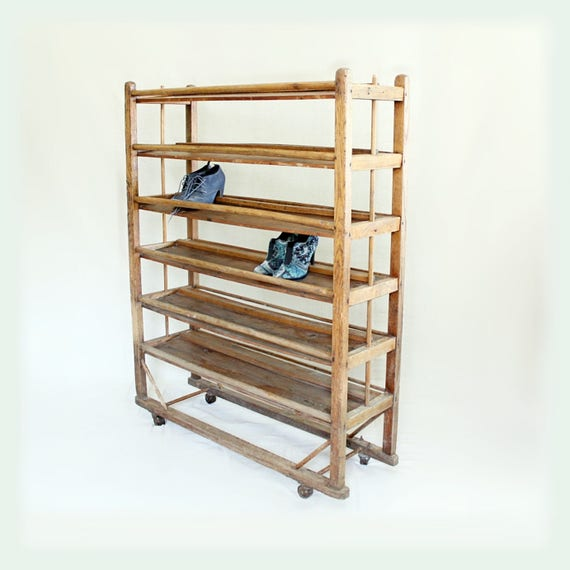 Vintage Factory Shoe Rack For Sale