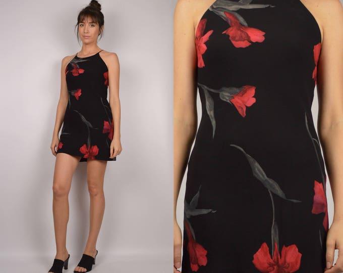 90's Floral Micro Mini Dress