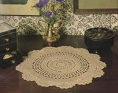 "Vintage Crochet Doily Pattern ""Traditionally Yours"" - from Crochet Fantasy, January 1989"