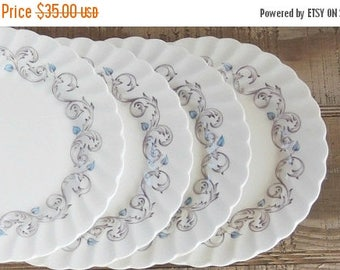 On Sale Vintage Johnson Brothers Encore Multi Color Plates, Dessert Plates, Bread and Butter,  English Bone China, Transferware