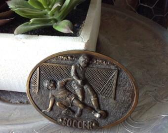 Vintage soccer belt buckle free shipping