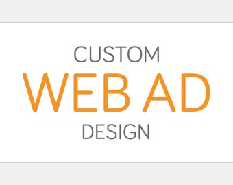 Custom Web Ad Button | Website Shop Graphic Custom Personalized | Static One Frame Web Blog Advertisement