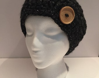 Thick and Chunky Women's Wool Beanie with Sparkle