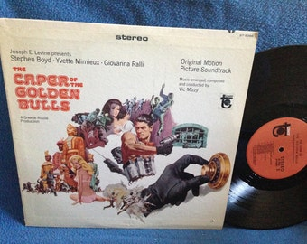 "Vintage, The Caper Of The Golden Bulls - ""Original Motion Picture Soundtrack"", Vic Mizzy, Original 1st Press, Vinyl LP Record Album"