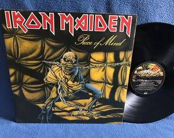 "RARE, Vintage, Iron Maiden - ""Piece Of Mind"", Vinyl LP, Record Album, Original 1983 EU First Press, Metal, The Trooper, Where Eagles Dare"