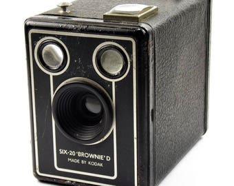 Kodak Brownie Six-20 Vintage Mid Century Art Deco Box Film Cameras