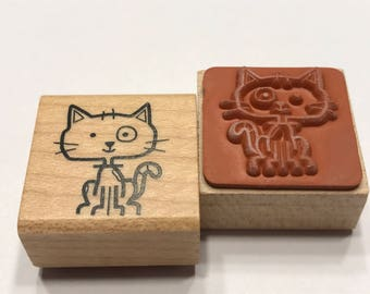 small Cat rubber stamp, 20 mm (BB4/3)