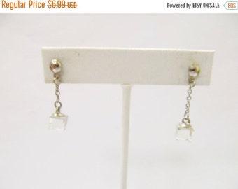 On Sale Vintage Dangle Crystal Prism Earrings Item K # 2824