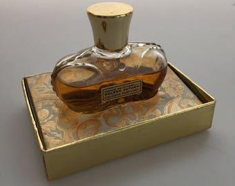 1950s Vintag PRINCE MATCHABELLI Golden Autumn COLOGNE Parfumee Crown Bottle 1 Fl Oz Almost Full Commercial Perfume