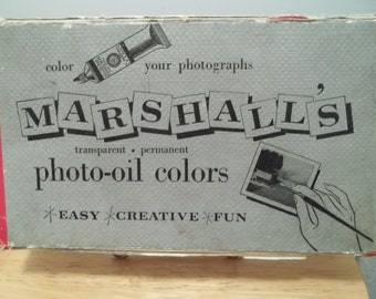 Vintage Marshall's Tinting Photograph Oil Paint Colors Set