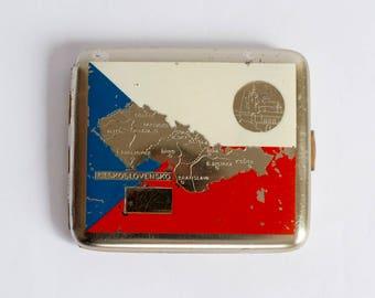 Vintage Cigarette Case, Cigarette Holder, Cigarette Case From Czechoslovakia,