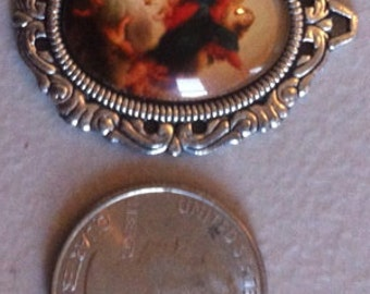 Mary Charm with Children or Pendants (4 Pieces)