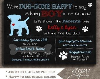 Dog Baby Shower Invitation Labrador Retriever Puppy Baby Shower Invitation Puppy Dog Baby Shower Invites Printable Chalkboard Invites Lab