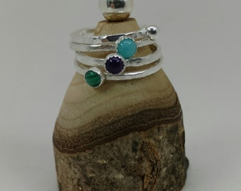 Fine Silver Stack Ring (1)