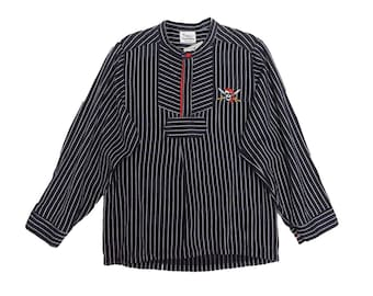 Vintage TAGO Navy Striped Pirate Shirt | 10 - 11 Years