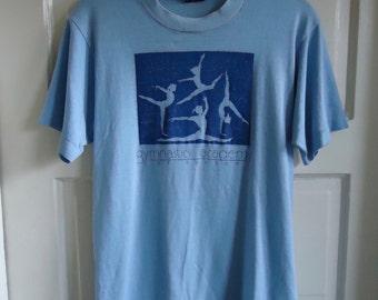 Vintage 80s GYMNASTICS ACADEMY Paperthin T Shirt sz S