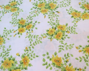 Yellow Roses - Full or Double Flat Vintage Sheet