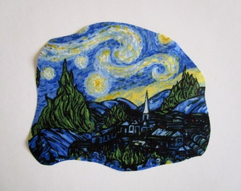 Starry Night Iron On Patch Applique 8""