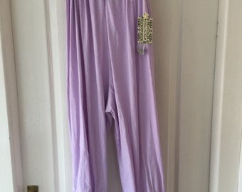 Made to order all SizesPlus & Regular RitaNoTiara Lavender pearl trousers boho quirky Lagenlook Prairie pure cotton ruffle bloomers trousers