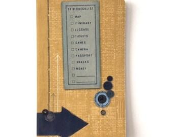 Travel Notebook Mini Size Journal Vintage Design