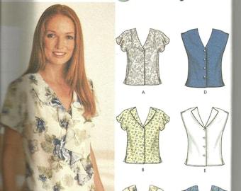 Simplicity 7176 uncut size 14 - 20 womans blouse top