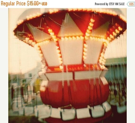 Carnival Print, nursery wall art, nursery decor, circus print, red decor, vibrant, dreamy, vintage cirus, New Jersey Shore, film photo, fPOE