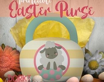 Easter Printable PDF - Printable Party Supplies - Lamb and Easter Egg Printable Purse