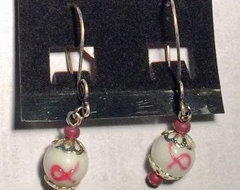 breast cancer earrings #2