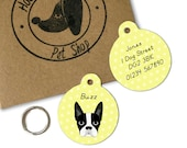 Boston Terrier Personalised Dog Name Id Tag