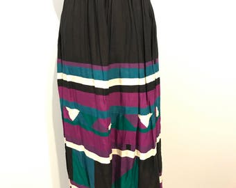Gorgeous 1980s long skirt