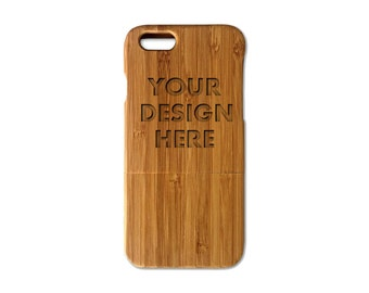 Personalized Bamboo Wood iPhone 6s case (4.7Inch) (Email us your design for Engraving)