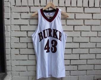 Vintage BASKETBALL Jersey Russell Athletic tag #43 Burke Activewear Outdoor Clothing Outerwear