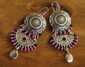 Earrings - Bahia Del Sol - DELHI 1 - Gypset - Boho - Gypsy - Hippy - Bohemian - Ethnic - Zen - Ibiza - India - Indi - shanti jewelry