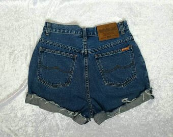 HIGH WAISTED SHORTS Denim Shorts Norwiss Denim Shorts Size 28 Vintage Denim Shorts Nr. 27