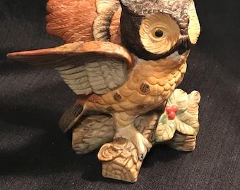 Owl Figurine 1960's Collectible