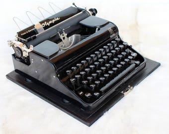 Olympia typewriter Antique typewriter Olympia Elite Antique portable typewriter Black typewriter Vintage working typewriter Typewriters