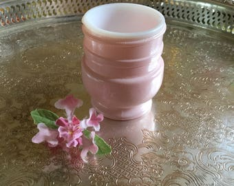 Vintage Pink and White Cold Cream Jar-Unknown Maker
