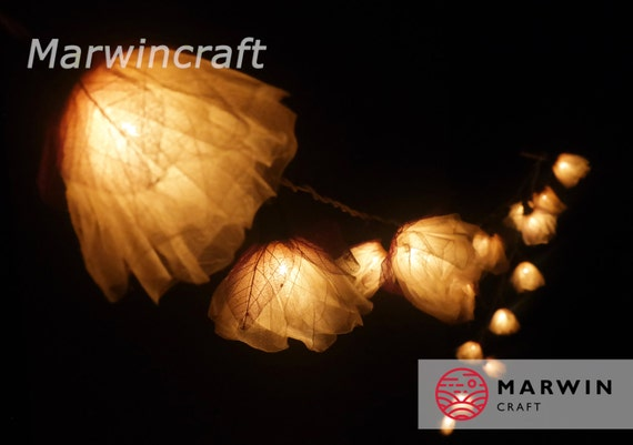 20 White Romantic Carnation Flower Fairy STRING LIGHTS Wedding Party Floral Home Decoration Gift for her
