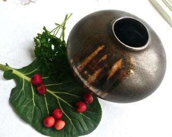 Vintage Pottery - Studio Art Vase - West German Vase - Brown Vase - Modern Vase - Mid Century - Scandinavian Decor - Pottery - Sleek - Urban