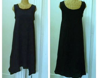 Black Jumper, Dress, A-Line, Sundress, Medium, Large, 1x, 2x, thru 3x Plus Size