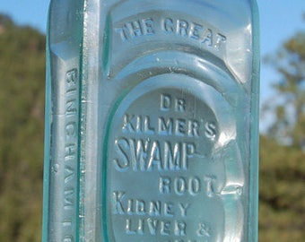 Original antique SWAMP ROOT CURE - quack / patent medicine bottle from 1800's - this is the Real Thing!!!
