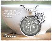 Personalized Mom Jewelry • Tree Of Life Necklace • Mom Necklace • Grandmother Gift • Name Necklace