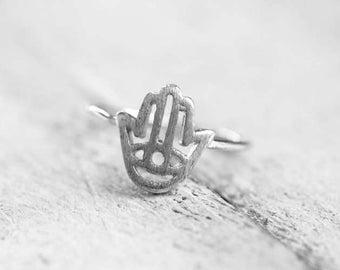 Hamsa Ring | silver