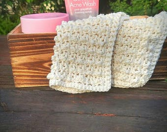 Crochet Face Wash Clothes, spa facial clothes, mothers day, gifts for her