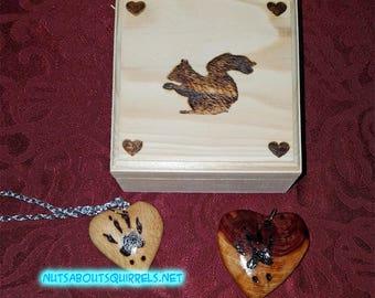 Squirrel Print Necklace
