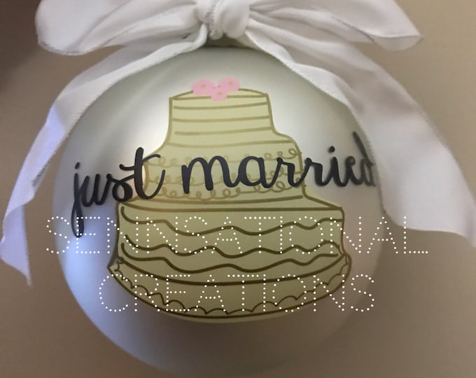 Just Married Ornment, Marriage Gift, Wedding Ornament, Wedding Gift
