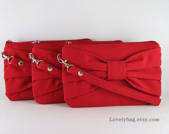 SALE - Red Clutch / Bridal Clutch / Bridesmaids Clutch / Wedding Clutch | 9.90 USD per piece.