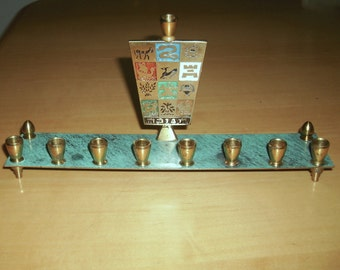 Free shipping! Menorah with the tribes of Israel symbols