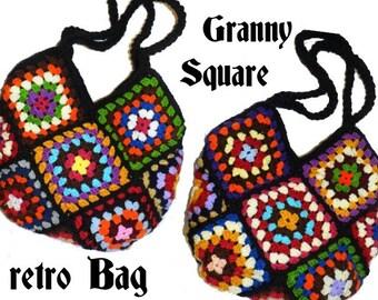 CROCHET PATTERN * REtRO BAG - GrannY SquarE* e-Book, instant download, pdf-datei, crochet bag,